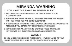 Miranda Rights - Ohio Criminal Charges